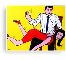 John couldnt understand why Jenny kept getting it wrong! Canvas Print