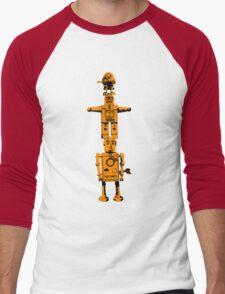 Robot Totem - BiLevel Orange Men's Baseball ¾ T-Shirt