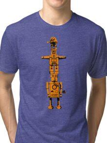 Robot Totem - BiLevel Orange Tri-blend T-Shirt
