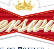 Beerswiller Funny Parody Logo Sticker