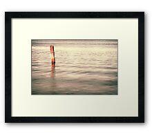 The lonley post - Homebush Bay, Sydney. Framed Print