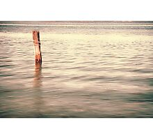 The lonley post - Homebush Bay, Sydney. Photographic Print