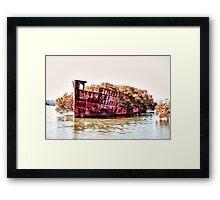 Shipwreck - Homebush Bay, Sydney. Framed Print