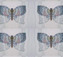 Grey Butterfly Sticker
