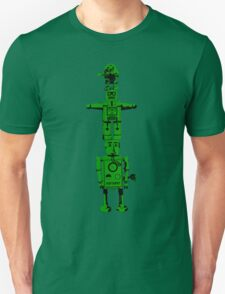 Robot Totem - BiLevel Green T-Shirt