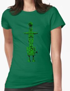 Robot Totem - BiLevel Green Womens Fitted T-Shirt