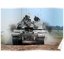 Challenger 2 Main Battle Tank (MBT) British Army Poster