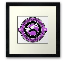 Freestyle Wrestling Competition Ready Suplex Purple  Framed Print