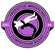Freestyle Wrestling Competition Ready Suplex Purple  Photographic Print