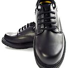 Black men's leather shoes. by FER737NG