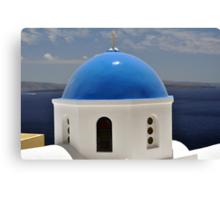 Church in Santorini. Canvas Print