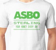 """Asbo Stealing Your Money"" Spoof Asda T-Shirt Unisex T-Shirt"