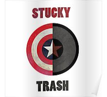 Textured Stucky Trash Poster