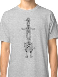 Robot Totem - Line Drawing Classic T-Shirt