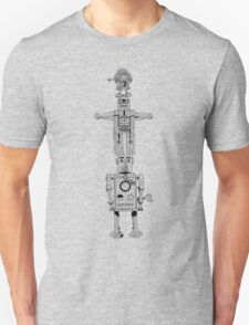 Robot Totem - Line Drawing T-Shirt