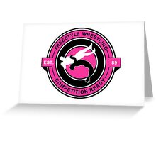 Freestyle Wrestling Competition Ready Suplex Pink  Greeting Card