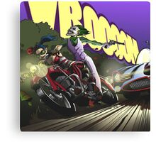 1955 Harley pursued by Ford Futura Canvas Print