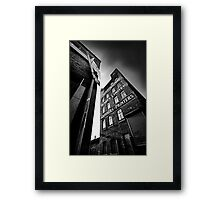 ...block print.... Framed Print