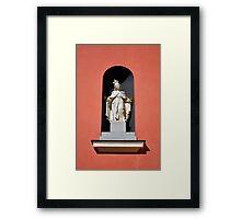 Virgin Mary statue. Framed Print