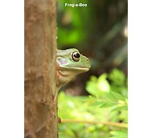 Frog-a-Boo Photographic Print