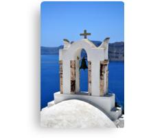 Chapel in Santorini Island. Canvas Print