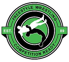 Freestyle Wrestling Competition Ready Suplex Green  Photographic Print