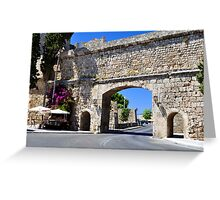 Rhodes old town. Greeting Card