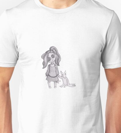 button girl and plushie  Unisex T-Shirt