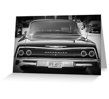 Black Chevy Sedan Greeting Card