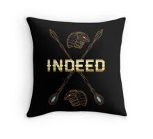 Indeed sci-fi famous quote Throw Pillow
