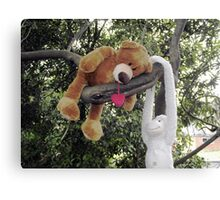 Hanging around with a friend in the garden Canvas Print