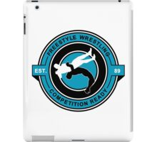 Freestyle Wrestling Competition Ready Suplex Blue  iPad Case/Skin