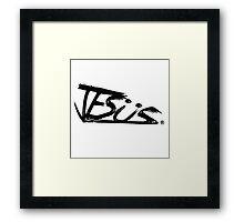 sup | JESUS  STAFF. Framed Print