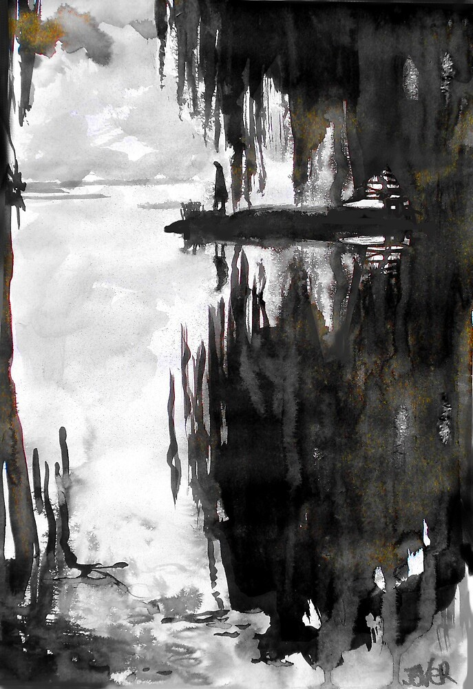 where the willows are by Loui  Jover