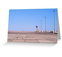 Marsa Alam Airport, Egypt. Greeting Card