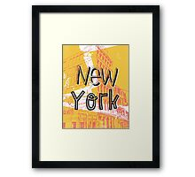 New York Y Framed Print