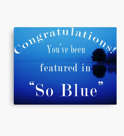 So Blue - Featured Banner Canvas Print