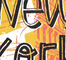 New York Y Sticker