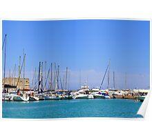 Marina: Port of Heraklion, Crete, Greece. Poster