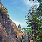 Perched Over Echo Lake by Lynda Lehmann