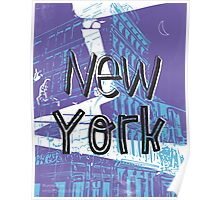 New York menthol midnight Poster