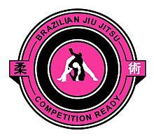 Brazilian Jiu Jitsu Competition Ready Triangle Choke Pink  Photographic Print
