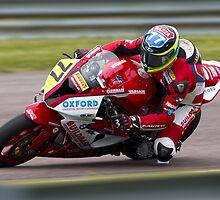 British Superbike rider Barry Burrell by Andrew Harker
