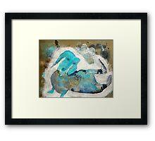 Fritzie Scratching Framed Print
