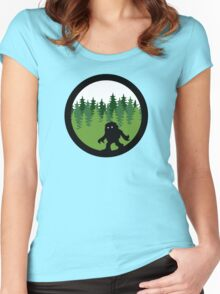 Sasquatch By Day - Noirgraphic Original Women's Fitted Scoop T-Shirt
