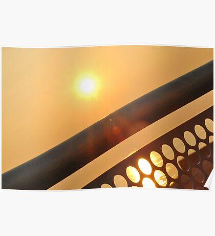 Sun through Railings Poster