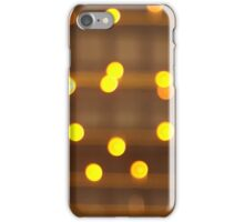 Top view on the blurred bright yellow circle iPhone Case/Skin