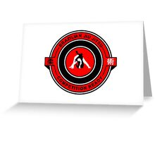 Brazilian Jiu Jitsu Competition Ready Triangle Choke Red  Greeting Card