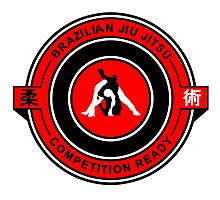 Brazilian Jiu Jitsu Competition Ready Triangle Choke Red  Photographic Print