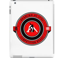 Brazilian Jiu Jitsu Competition Ready Triangle Choke Red  iPad Case/Skin
